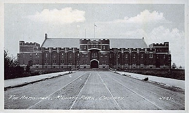The Armouries, Mewata Park, Calgary. Vancouver: The B.C. Printing & Litho. Ltd. Vancouver, B.C, ca. 1930; http://peel.library.ualberta.ca/pcimages/PC/005/web/PC005451.jpg.