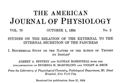 Violet de Beck - American Journal of Physiology - 1924; http://ajplegacy.physiology.org/content/70/2/225