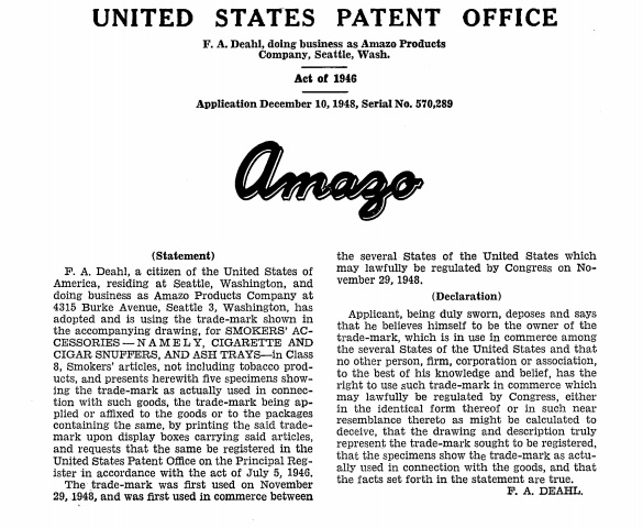 Amazo Products Company, trademark application; https://tsdrsec.uspto.gov/ts/cd/casedocs/bundle-download.pdf?rn=522397.