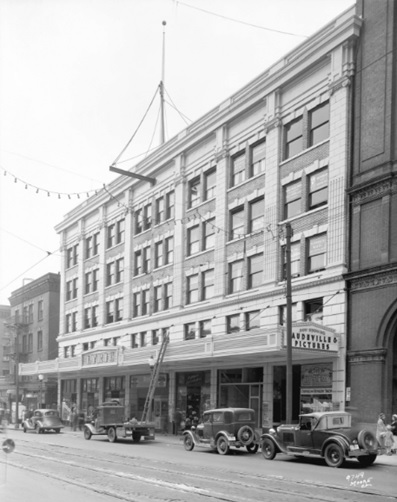 Lyric Theatre, Granville Street, 1935, Vancouver City Archives, Bu N439.3; http://searcharchives.vancouver.ca/lyric-theatre-granville-street