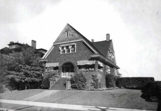 The Darling Residence at 1090 Nicola Street as it appeared in 1912; Francis Darling; Heritage Designation - 1090 Nicola Street – 'The Darling Residence,' City of Vancouver, Director of Planning in consultation with the Director of Legal Services; http://council.vancouver.ca/20110616/documents/phea4-Report.pdf; appendix b, page 1.