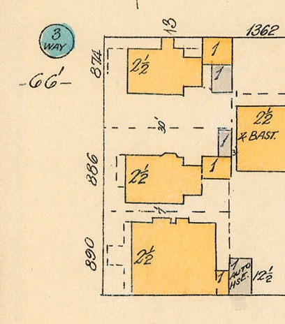 890 Broughton Street, detail from Goad's Atlas of Vancouver, Volume 1, 1913, plate 57; Bute Street to Haro Street and Broughton Street to Comox Street];Vancouver City Archives, 1972-582.32; http://searcharchives.vancouver.ca/plate-57-bute-street-to-haro-streeto-to-broughton-street-to-comox-street.