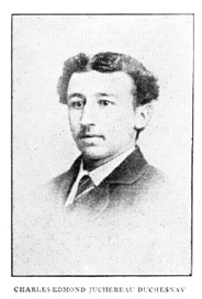 Charles-Edmond Juchereau Duchesnay, La famille Juchereau Duchesnay, by Pierre Georges Roy; Lévis, 1903, page 389; https://archive.org/stream/lafamillejucher00royp#page/389/mode/1up