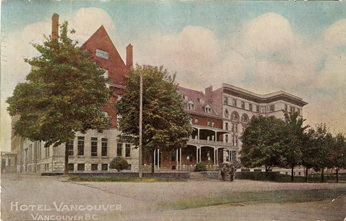 CPR Hotel Vancouver, postcard, about 1910; https://c1.staticflickr.com/9/8287/7763745592_ef7fcb0530_b.jpg
