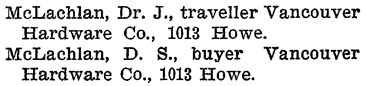 Vancouver City Directory, 1899-1900, page 223