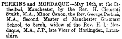 Birth, death, marriage notices, Freeman's Journal and Daily Commercial Advertiser (Dublin, Ireland), Wednesday, May 20, 1874, page 8