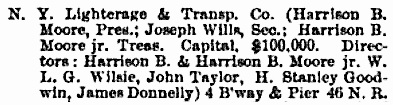 The Trow City Directory Co.'s, Formerly Wilson's, Copartnership and Corporation Directory of New York City, Trow, 1889, page 193.