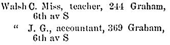 Henderson's City of Winnipeg directory, 1891, page 301 http://peel.library.ualberta.ca/bibliography/921.2.2/252.html [edited image]