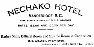 Vanderhoof Herald, May 17, 1919, page 1; http://archive.vanderhooflibrary.com/archive/VanderhoofHerald/02Dec1917-21Feb1920_multi-page/17-MAY-1919.pdf