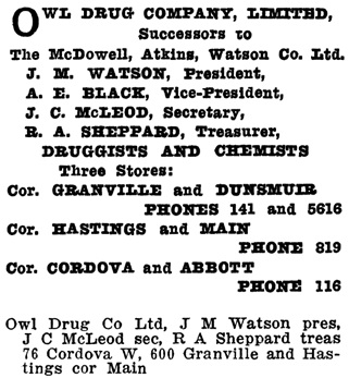 Henderson's Greater Vancouver Directory, 1911, Part 2, page 994