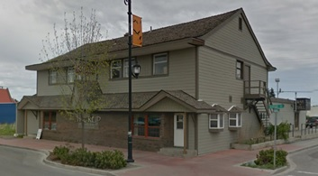 Reid Hotel, 2508 Burrard Avenue, Vanderhoof, British Columbia; Google Streets, searched July 16, 2016; image dated May 2012.
