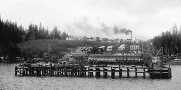 View of Ioco Refinery from the water, 1920 [detail], Vancouver City Archives, Out P17; http://searcharchives.vancouver.ca/view-of-ioco-refinery-from-water