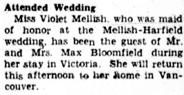 Social Activities, Victoria Daily Colonist, April 9, 1940, page 8, column 4; https://archive.org/stream/dailycolonist0440uvic_5#page/n7/mode/1up