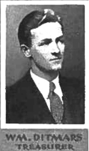 Wm. Ditmars, treasurer of Arts '35 executive, The Totem, University of British Columbia yearbook, 1932, page 42; http://www.library.ubc.ca/archives/pdfs/yearbooks/1932_totem.pdf