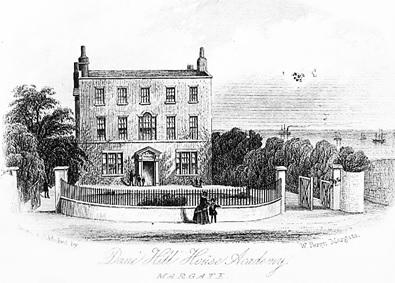 Dane Hill House Academy, Margate, 1873, http://www.margatelocalhistory.co.uk/HotSpotViewer/OSLargeScaleMapPics/Dane%20Hill%20House%20School.html