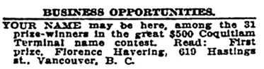Sunday Oregonian. (Portland, Ore.) November 26, 1911, Section Two, page 14, column 5; image 30; http://oregonnews.uoregon.edu/lccn/sn83045782/1911-11-26/ed-1/seq-30/