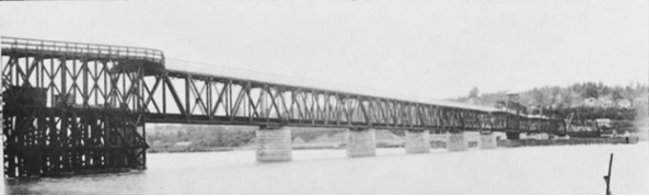 Fraser River Bridge (detail), Engineers and Contractors for the Fraser River Bridge, 1904, https://open.library.ubc.ca/collections/langmann/items/1.0053404#p0z-3r0f: