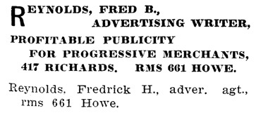 Henderson's City of Vancouver Directory, 1907, page 711