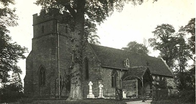 Haselor Church before First World War, http://www.walcotefarm.co.uk/history/haselor/church.htm