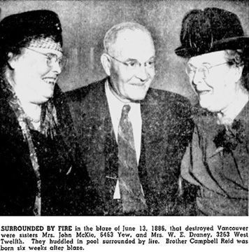Vancouver's Birthday Celebrated by Oldtimers Who Recall Founding, Vancouver Sun, April 21, 1953, page 13 [photograph of Mrs. John McKie, Mrs. W.E. Draney; and Campbell Reid]; https://news.google.com/newspapers?id=8PVlAAAAIBAJ&sjid=nokNAAAAIBAJ&pg=2231%2C3540310