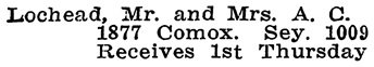 Vancouver Social Register and Club Directory, 1914, page 39