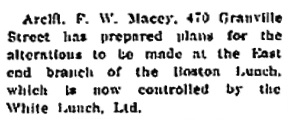 """""""Business Notes,"""" British Columbia Record, August 14, 1916, page 1; https://open.library.ubc.ca/collections/bcnewspapers/xbcrecord/items/1.0170416#p0z1r0f:"""