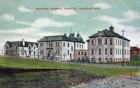 Brandon General Hospital, Brandon, Man. Brandon: Christie's Bookstore, c. 1910; http://peel.library.ualberta.ca/postcards/PC000194.html#n5; http://peel.library.ualberta.ca/pcimages/PC/000/web/PC000194.5.jpg.