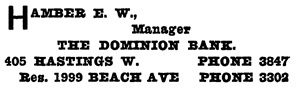 Henderson's City of Vancouver and North Vancouver Directory, 1909, page 713.