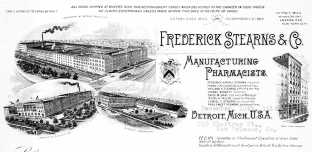 Frederick Stearns & Co. Bill, 1912, Columbia University Libraries, https://dlc.library.columbia.edu/catalog/ldpd:397134