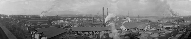 J. Hanbury and Co. Mill, False Creek, 1920s, Vancouver City Archives, PAN N110; http://searcharchives.vancouver.ca/j-hanbury-and-co-mill-false-creek.