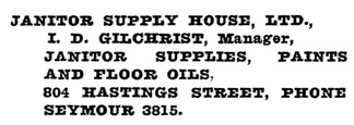 Henderson's Vancouver Directory, 1921, page 742