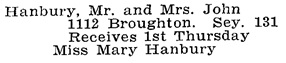 Vancouver Social Register and Club Directory, 1914, page 29