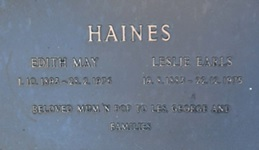 Leslie Earls Haines and Edith May Haines, https://rp1-heavenaddress.s3.amazonaws.com/allambememorialpark/l/0301/IMG_9770.JPG