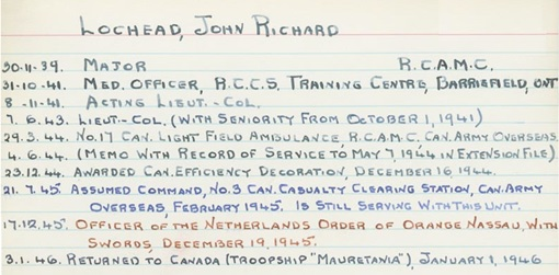 McGill Remembers, John Richard Lochead, http://www.archives.mcgill.ca/public/exhibits/mcgillremembers/results.asp?id=4220