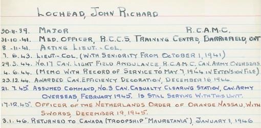 McGill Remembers, John Richard Lochead, http://www.archives.mcgill.ca/public/exhibits/mcgillremembers/results.asp?id=4220