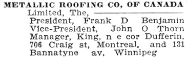 Toronto City Directory, 1900, page 660; https://archive.org/stream/torontodirec00midiuoft#page/n659/mode/1up