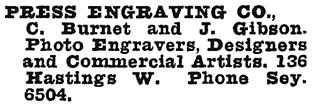 Wrigley Henderson Amalgamated BC Directory, 1925, page 1089