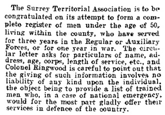 Editorial, Devon and Exeter Daily Gazette (Exeter, England), Issue 19540, July 12, 1909, page 3.