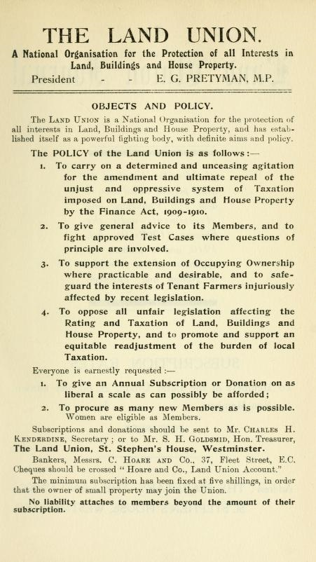 The New Land Taxes and Mineral Rights Duty; The Land Union's Handbook On Provisional Valuations; London, Vacher and Sons, Limited, 1911, page 187; https://archive.org/stream/newlandtaxesmine00land#page/n202/mode/1up