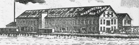 Wheeler Osgood and Company, about 1902; Plywood in Retrospect: The Wheeler Osgood Company; Plywood Pioneers Association, 1967; page 2 [edited image]; https://www.apawood.org/data/Sites/1/documents/monographs/2-the-wheeler-osgood-co.pdf