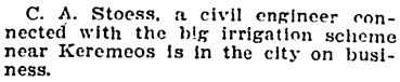 """""""Social and Personal,"""" Victoria Daily Colonist, May 15, 1909, page 11; http://archive.org/stream/dailycolonist19090515uvic/19090515#page/n10/mode/1up"""