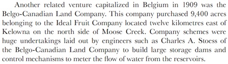 Promoters, Planters, and Pioneers: The Course and Context of Belgian Settlement in Western Canada, by Cornelius J. Jaenen; Calgary, University of Calgary Press, 2011, page 180; http://dspace.ucalgary.ca/bitstream/1880/48650/14/UofCPress_PromotersPlantersPioneers_2011_Chapter06.pdf.