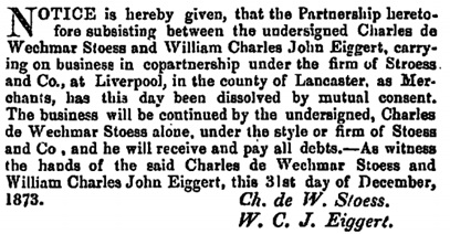 The London Gazette, January 6, 1874, page 68; https://www.thegazette.co.uk/London/issue/24051/page/68