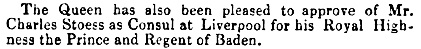 """""""From the London Gazette, June 28, 1853,"""" The Morning Post (London, England), Issue 24811, June 29, 1853; page 6."""