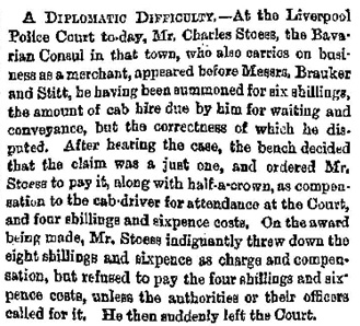"""Liverpool News,"" Glasgow Herald (Glasgow, Scotland), Issue 8072, November 20, 1865; page 4."