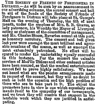 """Local Intelligence,"" Liverpool Mercury (Liverpool, England), Issue 4582, October 17, 1862, page 7."