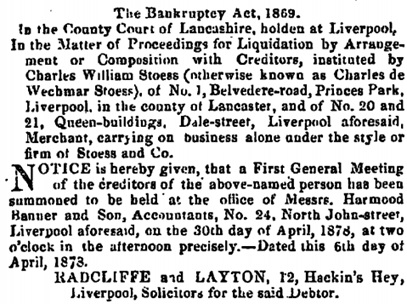 The London Gazette, April 9, 1878, page 2490, https://www.thegazette.co.uk/London/issue/24570/page/2490