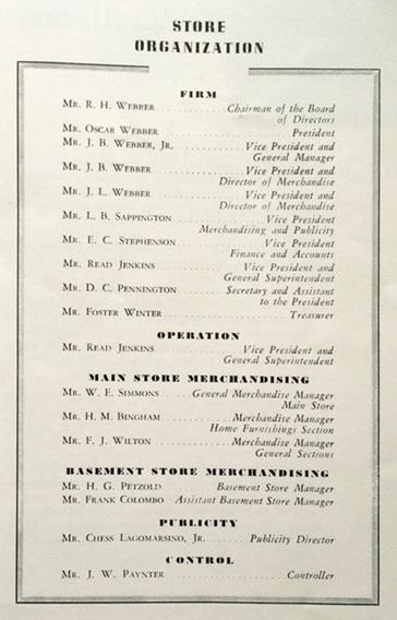 Hudsons, Store Organization, Handbook, about 1948, http://ancestrystuff.chachich.com/?cat=9.