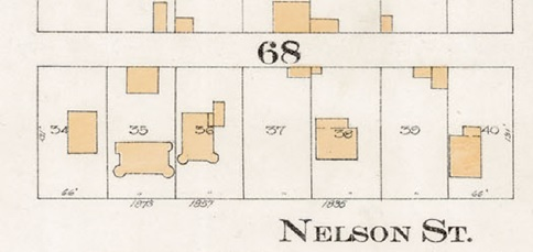 District Lot 185, Block 68, Lot 34; Goad's Atlas of the city of Vancouver - 1912 - Vol 1 - Plate 8 - Barclay Street to English Bay and Cardero Street to Stanley Park [detail]
