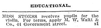 Classified Advertisements, Victoria Daily Colonist, September 1, 1901, page 7; http://archive.org/stream/dailycolonist19010901uvic/19010901#page/n6/mode/1up